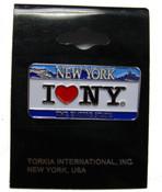 I Love NY License Plate Pin