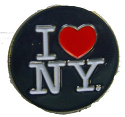 I Love NY Black Circle Pin Photo