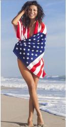 USA Flag Towel on model Photo