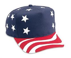 American Flag Retro Snapback Adjustable Cap Photo