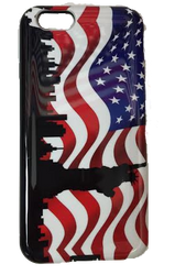 American Flag iPhone 6 Case - NYC Skyline Design Photo