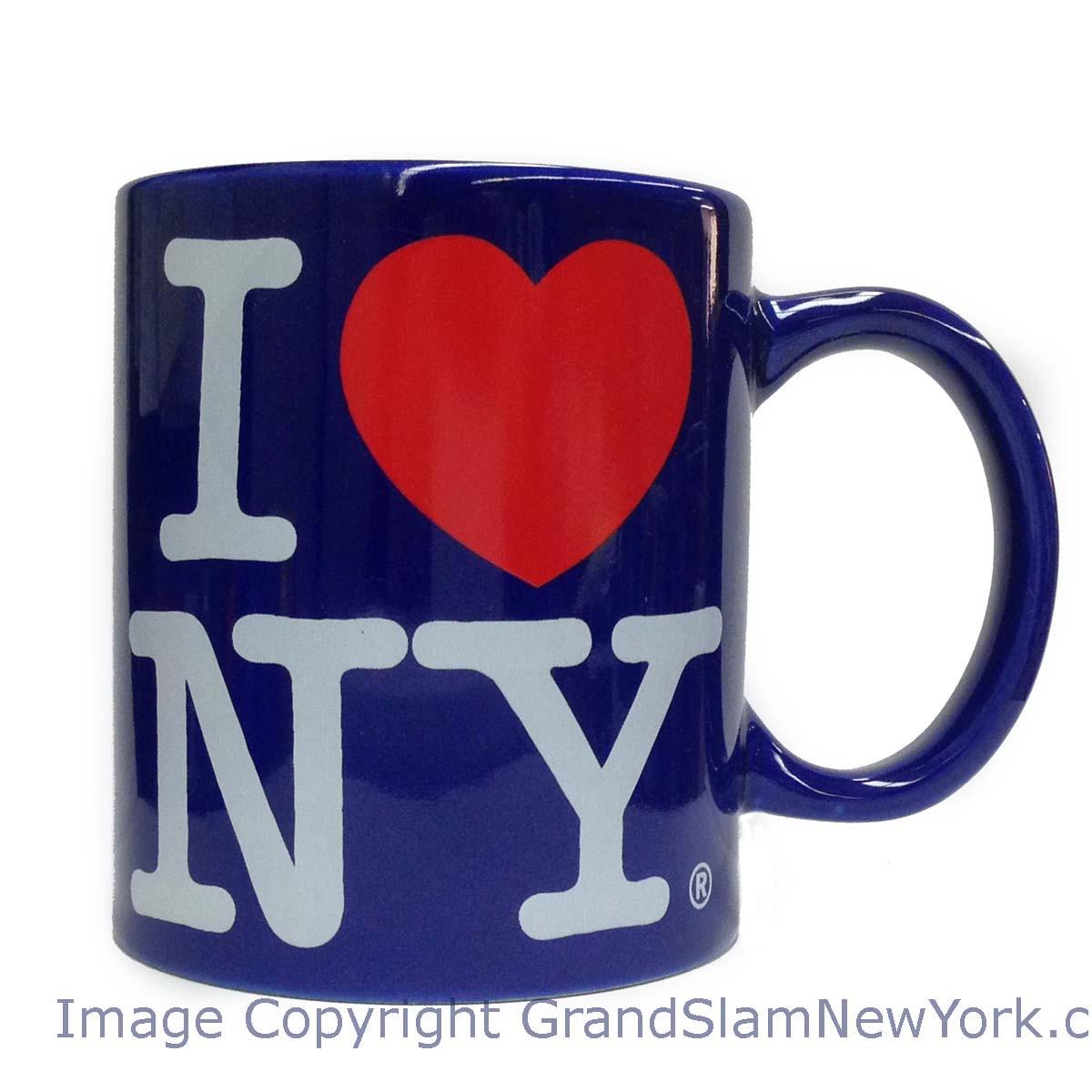 Royal Blue I Love NY Mug photo