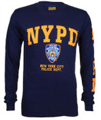 NYPD Full Chest and Sleeve Navy LS Tee