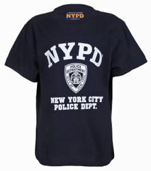NYPD Full Chest Navy Kids Tee Photo