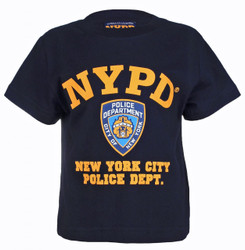 NYPD Full Chest Color Navy Kids Tee Photo