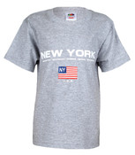 New York Boroughs American Flag Grey Kids Tee