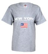 New York Boroughs American Flag Grey Kids Tee
