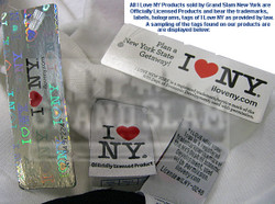 This Product is Officially Licensed by I Love NY Photo