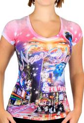 I Dream of Times Square Ladies T-Shirt Photo