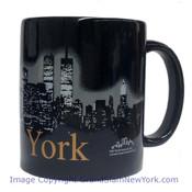 NYC Glowing Night Skyline 11oz Mug - Black