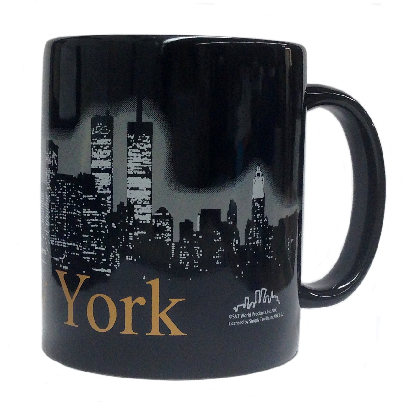 NYC Glowing Night Skyline 11oz Mug - Black photo