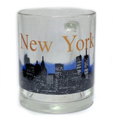 NYC Glowing Night Skyline 11oz Mug - Glass