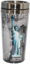 NYC Icons Liberty Contrast Tall Travel Mug Photo