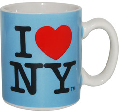 I Love NY Mini Mug - Blue Photo