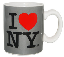 I Love NY Mini Mug - Grey Photo