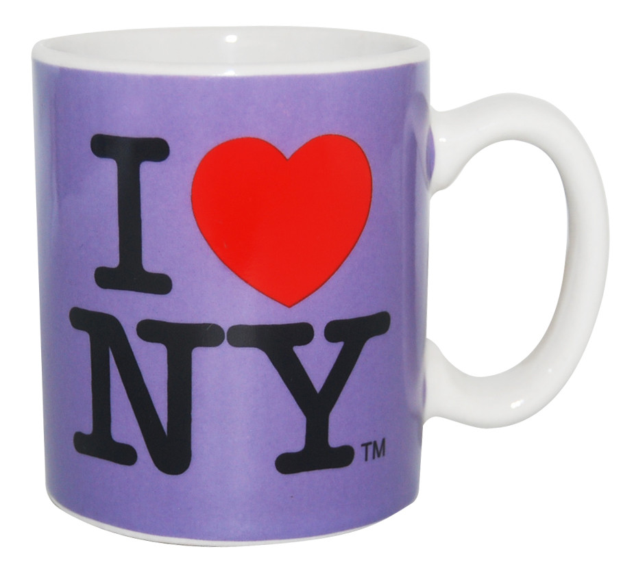 I Love NY Mini Mug - Purple photo