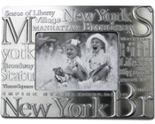 NYC Landmarks Pewter 3 x 5 Picture Frame