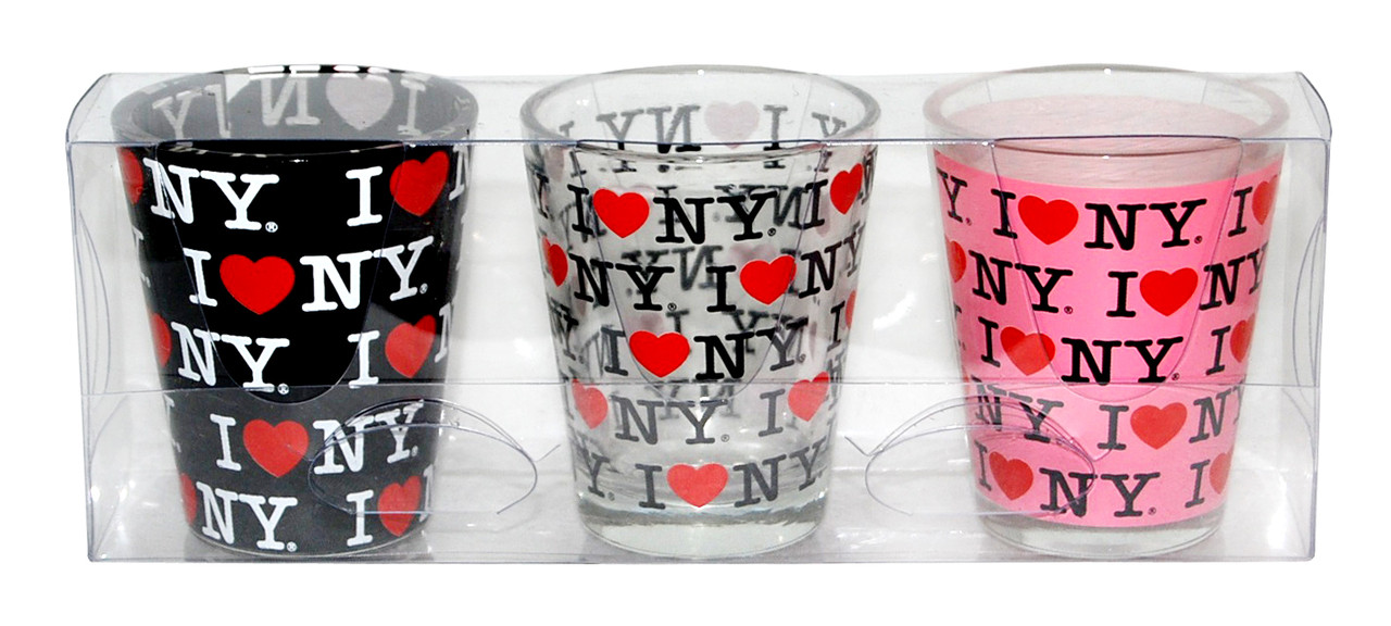 I Love NY Allover Shot Glass 3-Pack photo