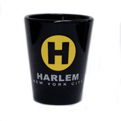 Harlem H Black Shot Glass