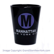 Manhattan M Black Shot Glass