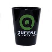 Queens Q Black Shot Glass