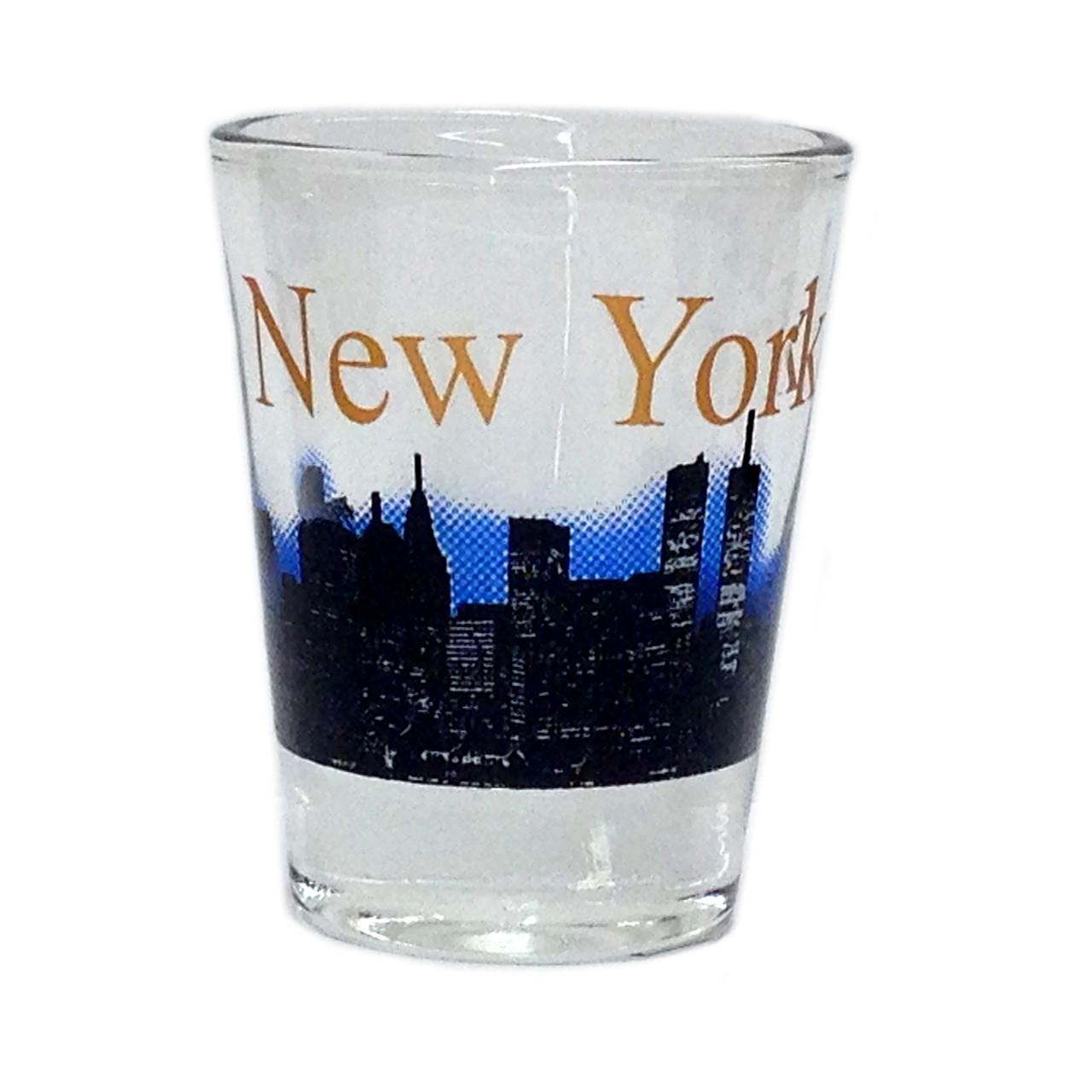 NY Glowing Skyline Shot Glass – Clear photo