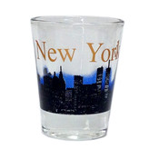 NY Glowing Skyline Shot Glass – Clear