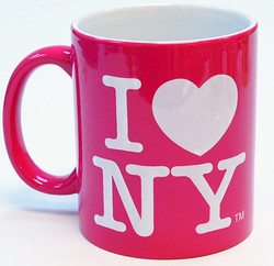 I Love NY Mug - Power Pink Photo