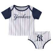 """Yankees Baby """"Little Player"""" Pinstripe and Navy 2pc. Set"""