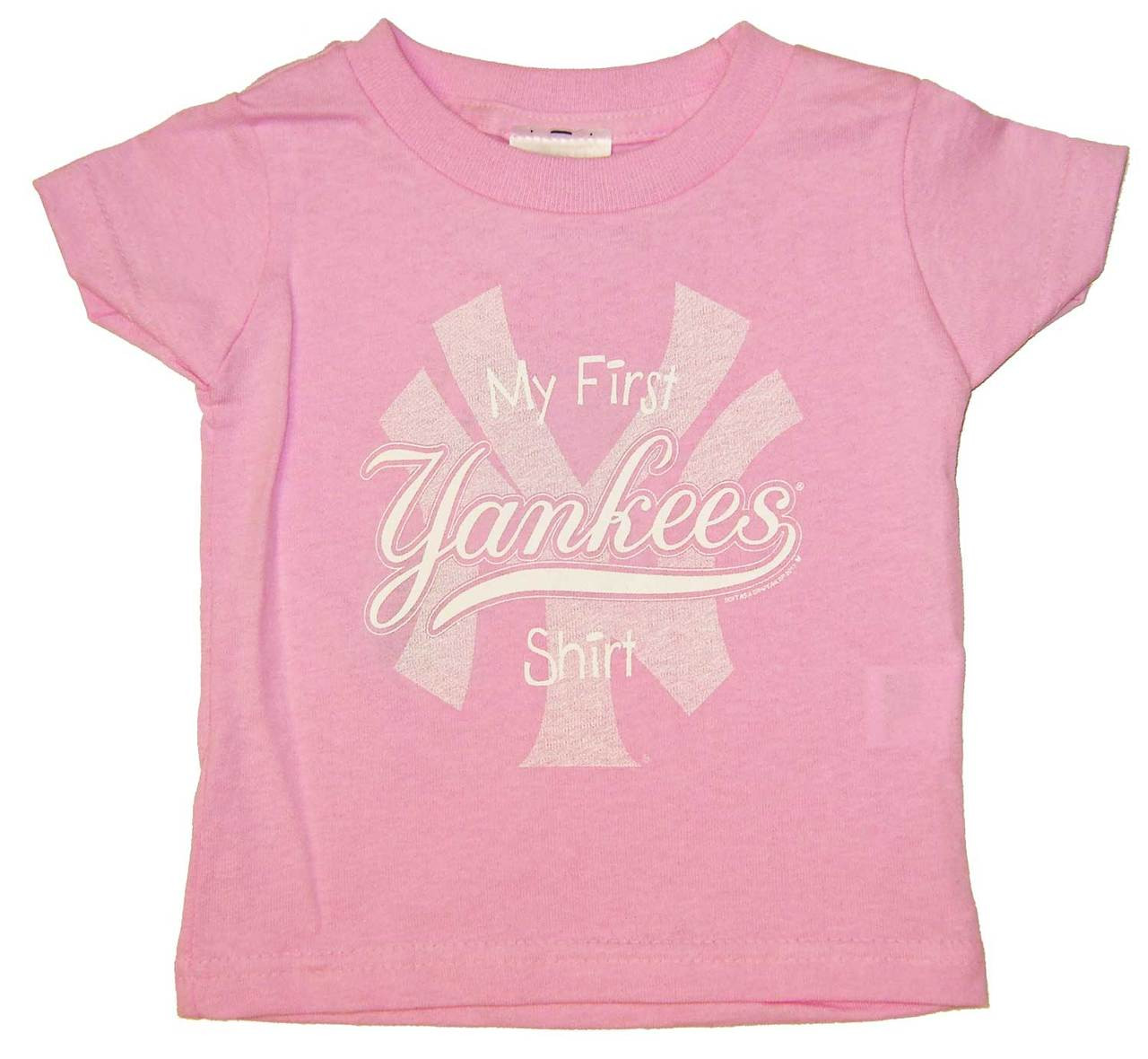 Yankees toddler my first pink tee for Toddler custom t shirts no minimum