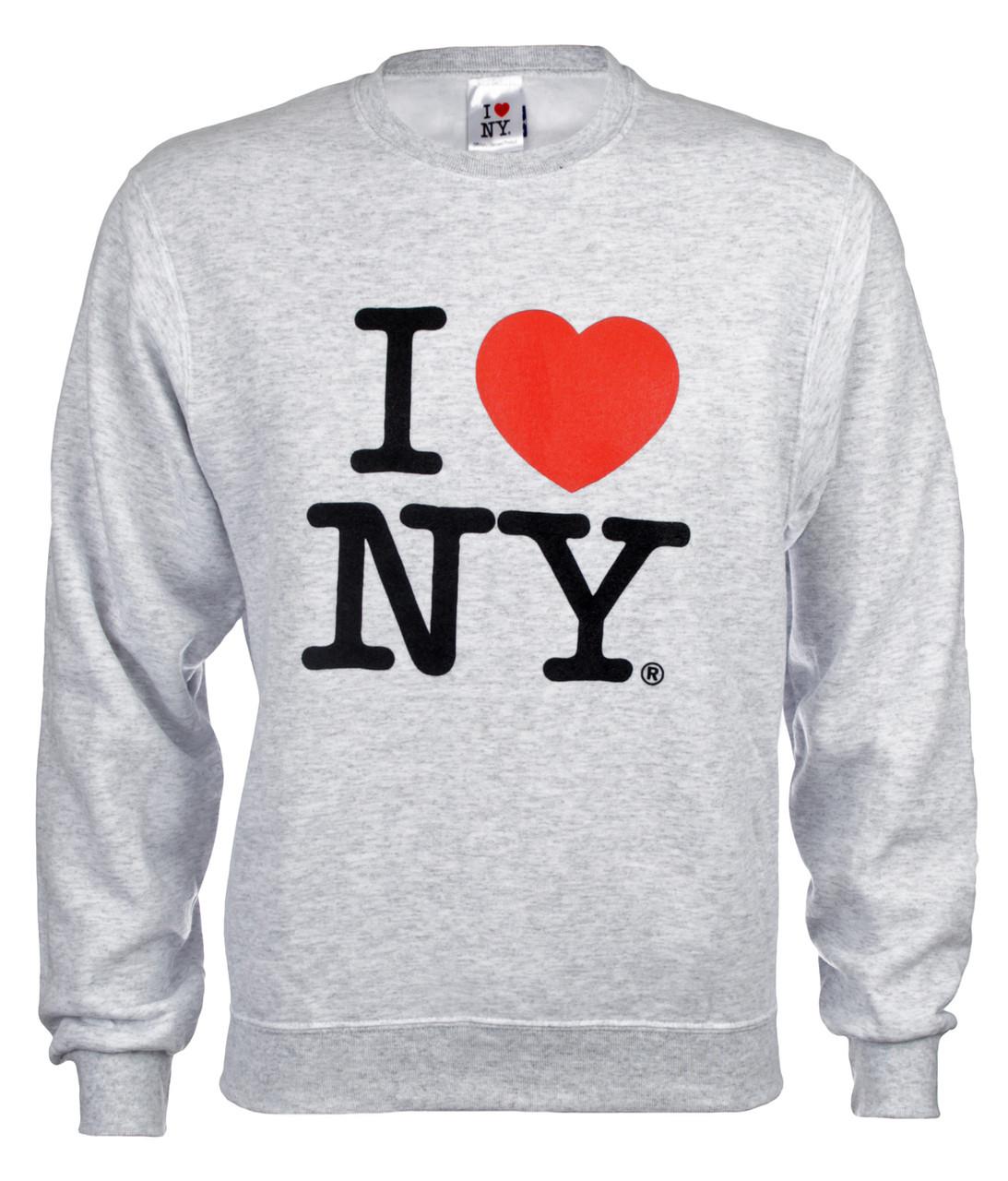 I love ny crewneck sweatshirt grey altavistaventures Choice Image