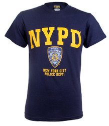 NYPD Badge Navy and Gold T-Shirt Photo