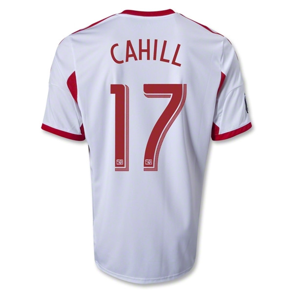 b2973f70f Tim Cahill  14 White Adidas Primary Replica Jersey  New York Red Bulls