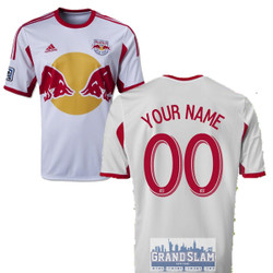 NY Red Bulls Personalized White Youth Jersey Photo
