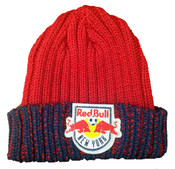 NY Red Bulls Beanie Knit Hat - front