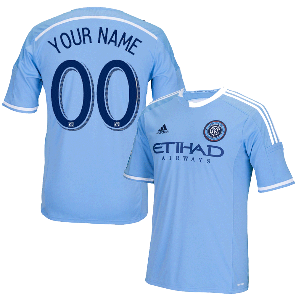 NYCFC Personalized Blue Jersey: Replica Adult Primary Jersey photo