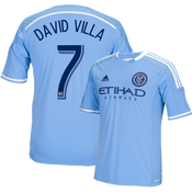 David Villa Blue Primary Replica Youth Jersey