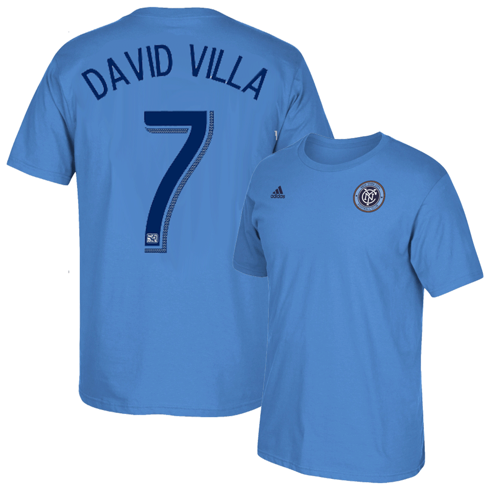 David Villa Blue Adult T-Shirt photo