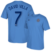 David Villa Blue Adult T-Shirt