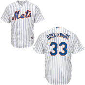 Dark Knight NY Mets Replica Adult Home Jersey