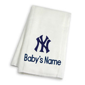 NY Yankees Personalized Burp Cloth