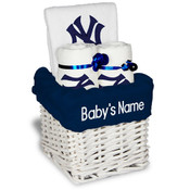 NY Yankees Personalized Small Gift Basket