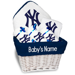 Ny Yankees Personalized 6 Piece Gift Basket