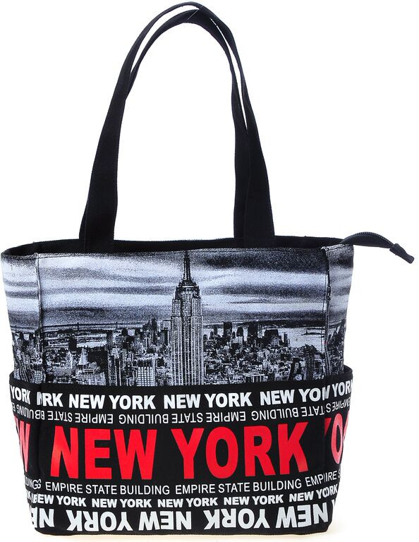 Robin-Ruth NY Red/Black Small Tote Bag  photo