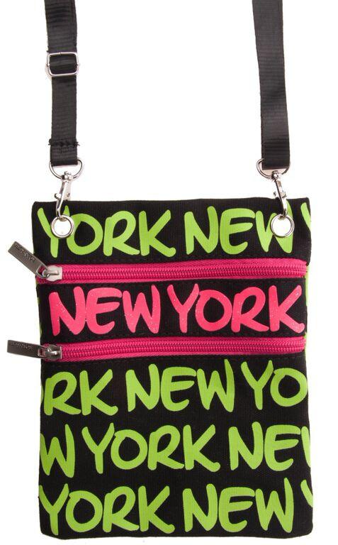 Robin-Ruth NY Neon Green Neck Wallet  photo