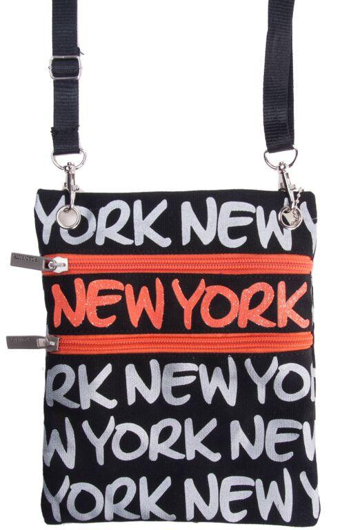 Robin-Ruth NY Black/Orange Neck Wallet  photo