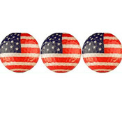 American Flag Golf Ball  3-Pack