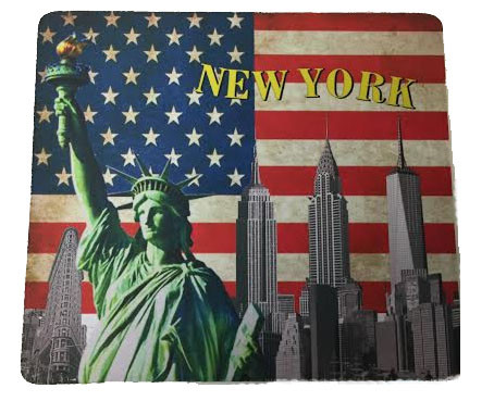 USA NY Skyline Mouse Pad  photo