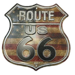USA Route 66 Street Sign  Photo
