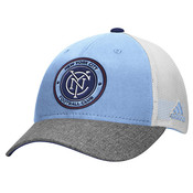 NYCFC Adidas Authentic Team Structured Adjustable Cap